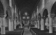 Northampton, St Peter's Church, Interior 1922