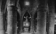 Northampton, The Church Of The Holy Sepulchre, The Interior 1922