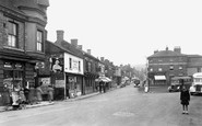 Oakengates, the 'Bus Stand and Market Street c1955