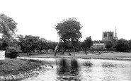 Ormskirk, Coronation Park, The Lake c.1955