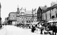 Ormskirk, Market Place And Aughton Street 1894