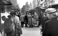 Ormskirk, Moor Street On Market Day c.1955
