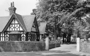 Oswestry, Post Office and Main Avenue, Park Hall Camp c1960