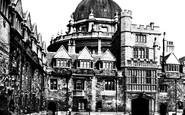 Oxford, Brasenose College Quadrangle 1890
