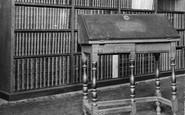 Oxford, Pembroke College, Dr Johnson's Desk From Edial Hall 1907