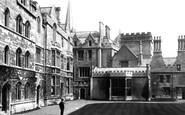 Oxford, Pembroke College, Quadrangle 1890