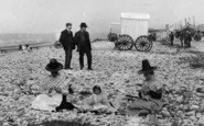 Pensarn, Welsh Ladies On The Beach c.1900