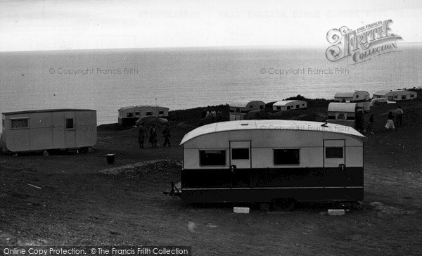 Perranporth, Perran Sands Holiday Camp path to the Beach c1960.  (Neg. P43061)  © Copyright The Francis Frith Collection 2008. http://www.francisfrith.com