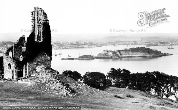 Plymouth, Drake's Island From Mount Edgcumbe 1890