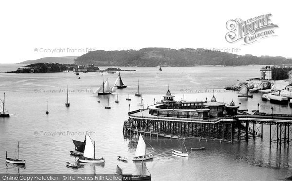 Plymouth, The Pier And Mount Edgcumbe 1889