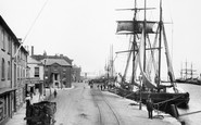 Poole, Barges And The Quay 1908