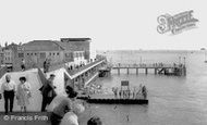 Portsmouth, Victoria Pier and the Sally Port c1960