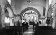 Rainham,Parish Church Interior c.1950