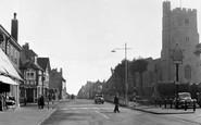 Rainham, St Margaret's Church And High Street c.1955