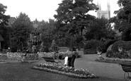 Reading, A Gardener In Forbury Gardens 1890