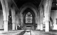 Reading, St Giles Church Interior 1896