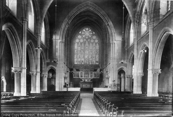 Redhill St John S Church Interior 1908 Francis Frith