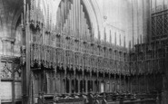 Ripon, Cathedral, Choir Stalls 1895