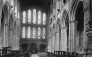 Ripon, Minster, Nave West 1895