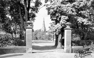 Ripon, Spa Park Gardens And Holy Trinity Church c.1950