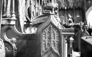 Ripon, The Cathedral, Bishop's Stall 1914