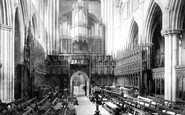 Ripon, The Cathedral, Choir West c.1885
