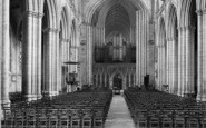 Ripon, The Cathedral, Nave East 1914
