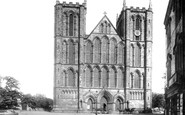 Ripon, The Cathedral, West Front 1895