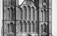 Ripon, The Minster, West Front 1886