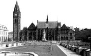 Rochdale, The Town Hall And Memorial Gardens c.1955