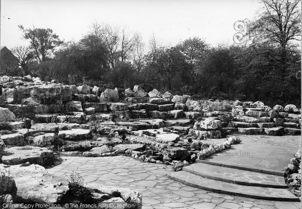 Rotherham, The Rock Gardens, Clifton Park C.1950