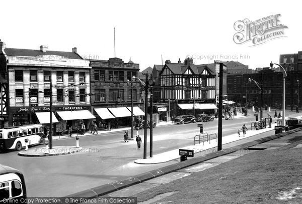 Rotherham, The Town Centre C.1950