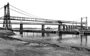 Runcorn, the Two Bridges c1955