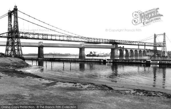 Photo of Runcorn, the Two Bridges c1955