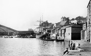 Salcombe, the Quayside 1896
