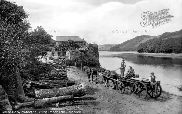 Salcombe, Waterhead, Horse And Wagon 1922