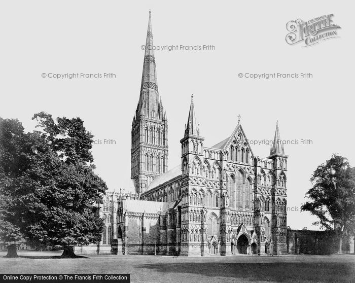Salisbury, The Cathedral, From The North West c.1862