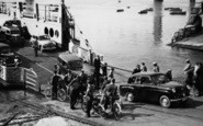 Saltash, Disembarking From The Ferry c.1955