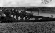 Saltash, Royal Albert Bridge And Coombe Viaduct c.1965