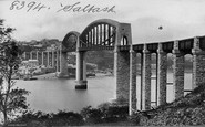Saltash, Royal Albert Bridge c.1876