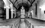 Saltash, St Nicholas And St Faith Church Interior c.1965