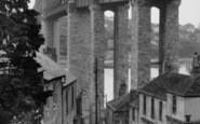 Saltash, The Royal Albert Bridge From Fore Street c.1955