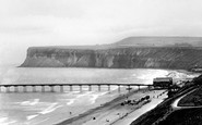 Saltburn-By-The-Sea, Huntcliff and Pier 1923