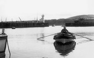 Scarborough, Boat Entering the Harbour c1955