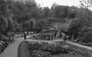 Scarborough, Rose Bed, Italian Gardens c.1950