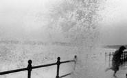 Scarborough, Rough Sea c.1960