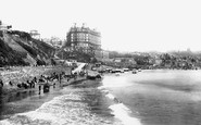 Scarborough, The Sands And Grand Hotel 1897