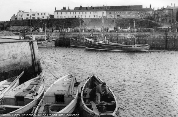 Seahouses, The Harbour c.1955