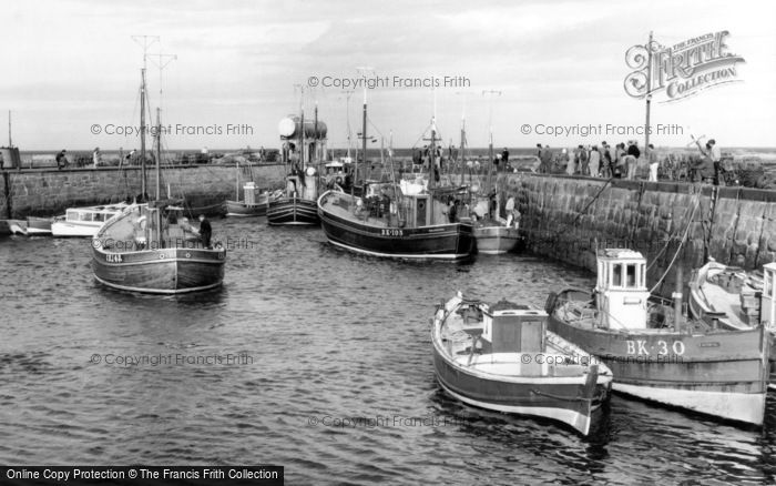 Seahouses, The Harbour c.1965