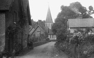 Shere, Church Cottages 1913